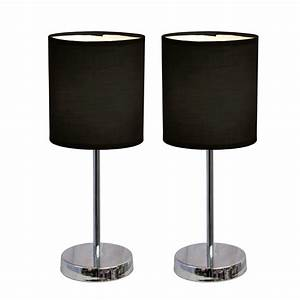 simple designs chrome mini basic table lamp with fabric With table lamp sets under 50