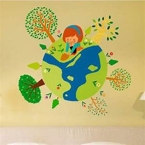 green earth flowersgirls and trees planted stickers With what kind of paint to use on kitchen cabinets for custom glow in the dark stickers