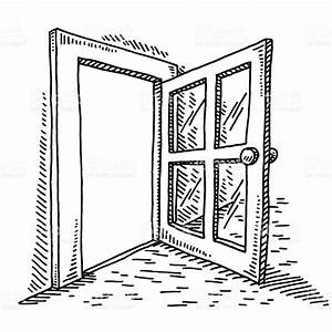 Open Door Drawing stock vector art 474058808 | iStock