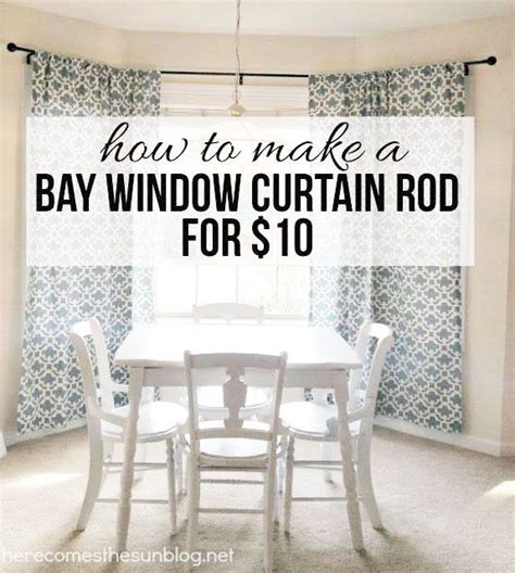 Make Your Own Living Room Curtains by Diy Bay Window Curtain Rod For Less Than 10 Diy