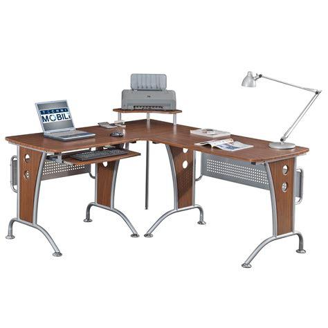 Techni Mobili Desk Assembly techni mobili space saver mahagonay computer l desk for