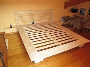 Lit Bois Massif Design : fabriquer lit bois massif ~ Teatrodelosmanantiales.com Idées de Décoration