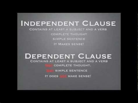 Independent Vs Dependent Youtube