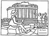 Coloring Parthenon Pages Sightseeing Bridge Gate Golden Printable Athens Temple Paul Artemis Ephesus Template Supercoloring Coloringpages101 Colorings Getcolorings Drawing Architecture sketch template