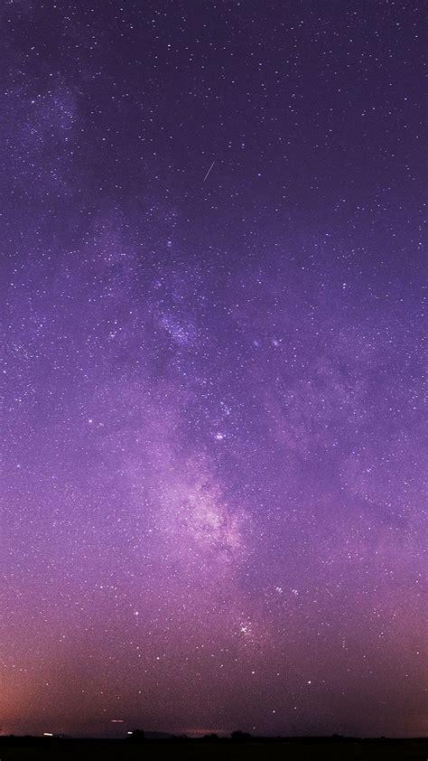 purple night sky stars milky  android wallpaper