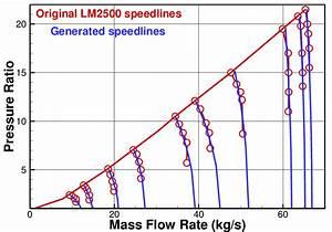 Original Speed Lines Of Lm2500 Compressor Map Vs