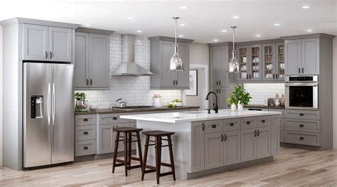 grey kitchens best designs tremont base cabinets in pearl gray kitchen the home depot 4081