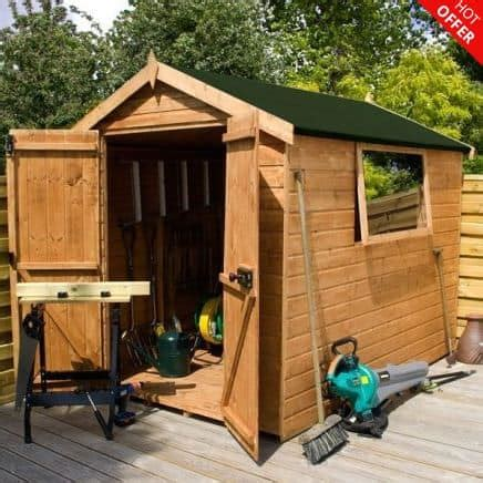Shiplap Or Tongue And Groove Shed - 8 x 6 door shiplap tongue and groove apex shed