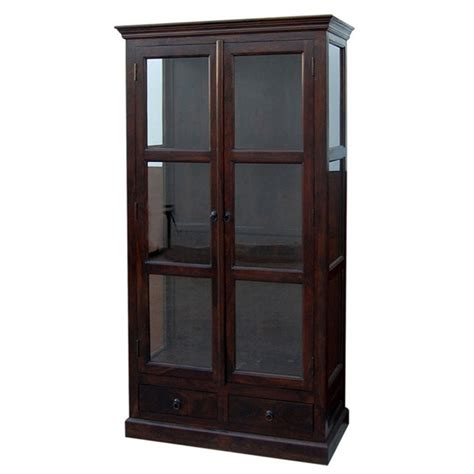 libreria a vetrina vetrina libreria con ante a vetro etnico outlet mobili