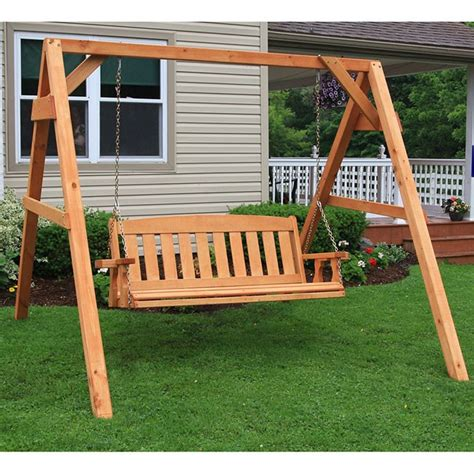 amish swing sets centerville amish heavy duty 700 lb mission swing and