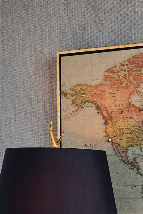 Heirloom Antiqued Linen Map Frontgate
