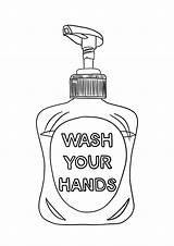 Hands Wash Colouring Soap Drawing sketch template