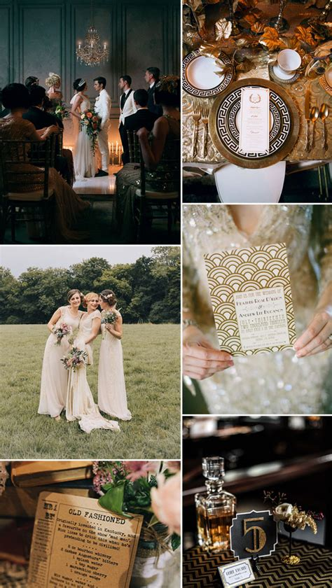 the great gatsby wedding ideas Tulle & Chantilly Wedding