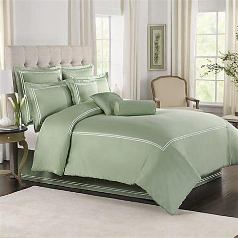 wamsutta 174 baratta stitch comforter set in sage bed bath