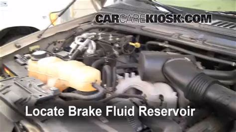 ford excursion brake fluid level check