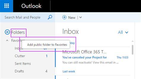 Office 365 Outlook Folders by Use Favorite Folders In Outlook On The Web