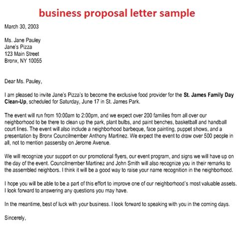 business proposal letter writing  good business proposal