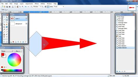 how to paint a l how to draw a curved arrow in paint net youtube