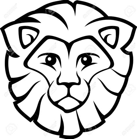 Lion Head Drawing For Kids Clipart Best
