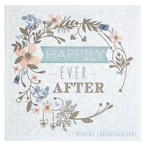happily   floral circle wedding congratulations