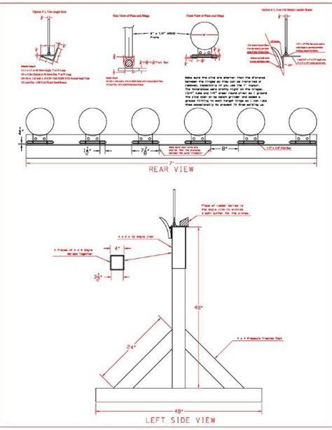 steel shooting plate rack drawing shooting targets diy steel targets shooting targets