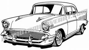 1957 chevy bel air vector clipart classic cars With 1950s lincoln cars