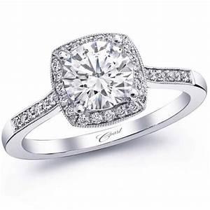 ben garelick jewelers coast cushion halo thin milgrain With coast wedding rings