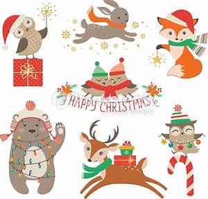 Cute Christmas Animals Vector Art | Thinkstock