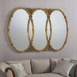 triple oval mirror ornate gold   cm exclusive mirrors