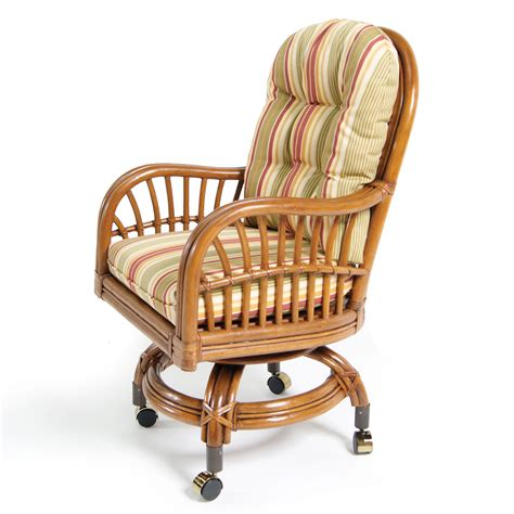 kitchen chairs with wheels rattan kitchen chairs with wheels and striped cushion