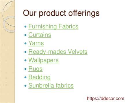 D'decor Home Fabrics Pvt. Ltd. Tarapur : Home Fabrics Pvt Ltd