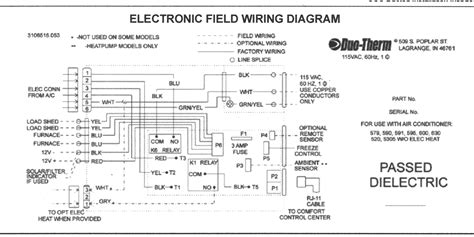 Dometic Rv Thermostat Wiring by Dometic Digital Thermostat Wiring Diagram Gallery