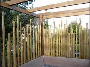 creation d39une terrasse en bambou youtube With comment faire une terrasse