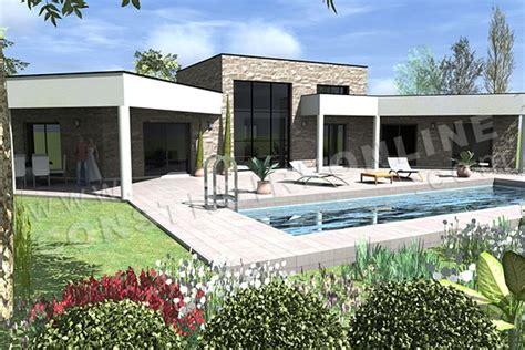 maison moderne en u plan de maison contemporaine amazone