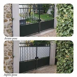 Brise Vue Sur Pied : brise vue portail en plexiglas cache vue protection plexi ~ Premium-room.com Idées de Décoration