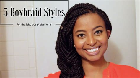 How I Style Box Braids For Work