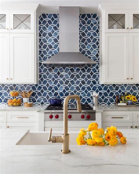 modern kitchen  bold blue backsplash hgtv