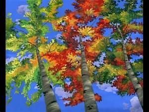 comment peindre les arbres de peupliers a l39acrylique sur With toile murale a peindre