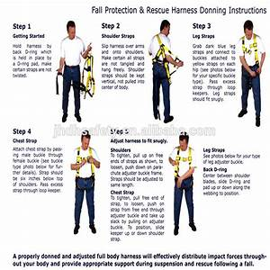 High Strength Fall Protection Full Body Safety Harness