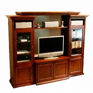 Meuble Tv Buffet : table television ecran plat en bois table de lit ~ Teatrodelosmanantiales.com Idées de Décoration