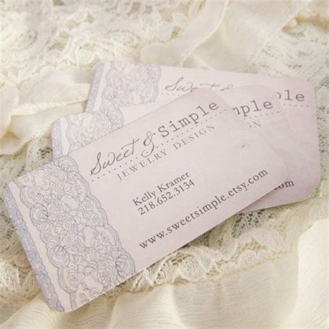 shabby chic business cards designer custom business chic vintage lace days gone by on etsy to do 2013 pinterest