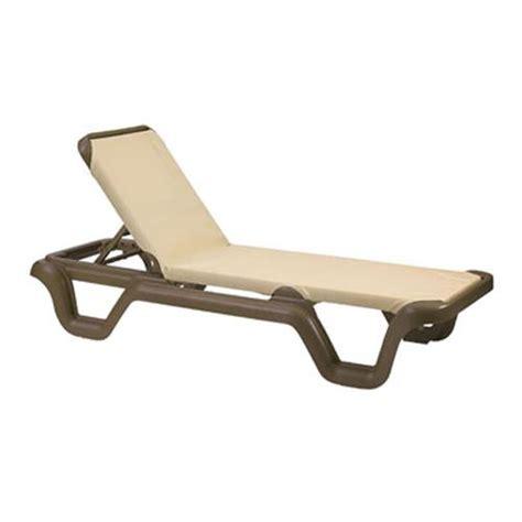 grosfillex us414137 khaki bronze marina sling chaise lounge