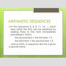Arithmetic Sequences And Arithmetic Means