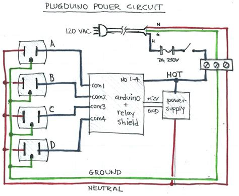 plugduino arduino based  volt outlet controller