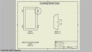 Create Detail View In Drawing Sheet  Autodesk Inventor