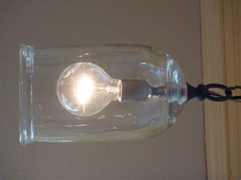 small blown glass cloche light fixture