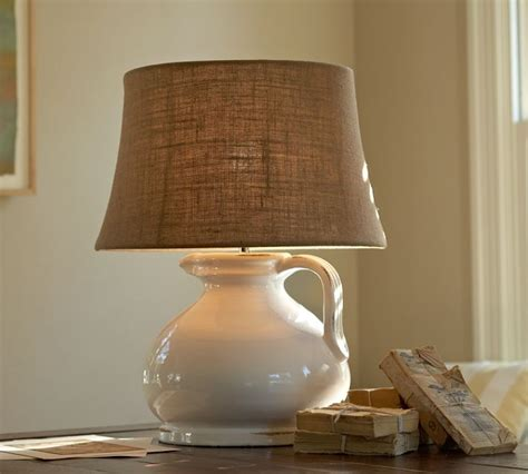 pottery barn l with burlap l shade decorate