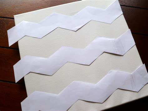 Chevron Template For Painting by Pocket Of Pink Chevron Canvas Tutorial