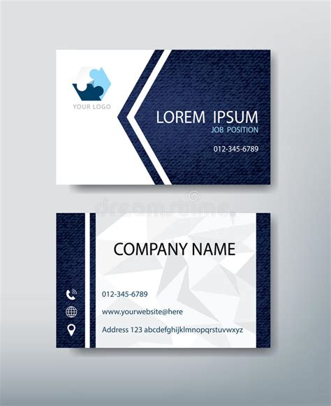 front and back business card template illustrator corporate business card personal name card design