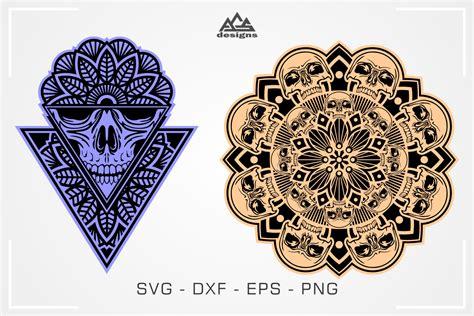 These svg images were created by modifying the images of pixabay. Skull Mandala Art Svg Design By AgsDesign | TheHungryJPEG.com